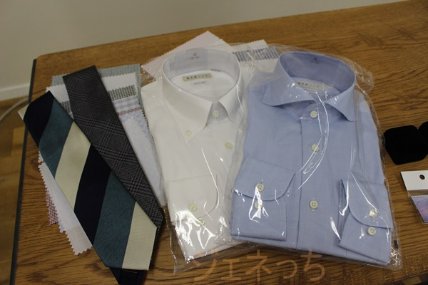 軽井沢シャツ、シャツとネクタイ