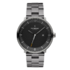 1.Christopher_Philosopher_GunMetal_BlackDial_GunMetal3-link_FV_WhiteBG